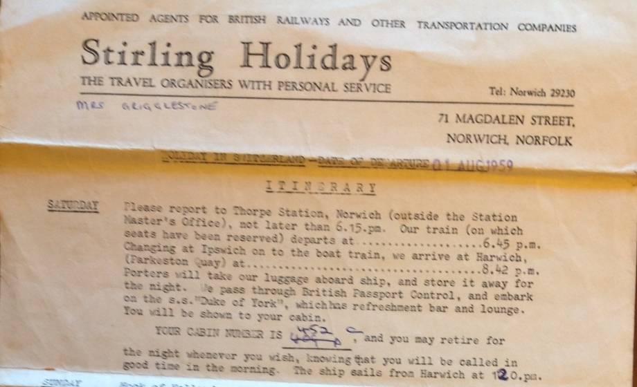 Stirling Holidays 1959