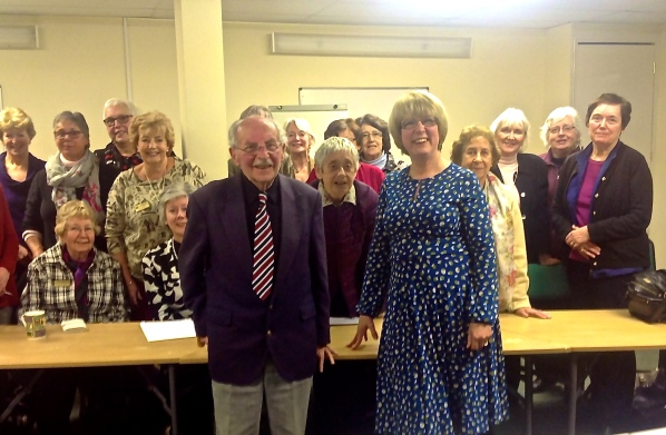 Our first joint talk at the Soroptimists club in Norwich