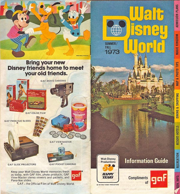 Walt Disney World brochure 1973
