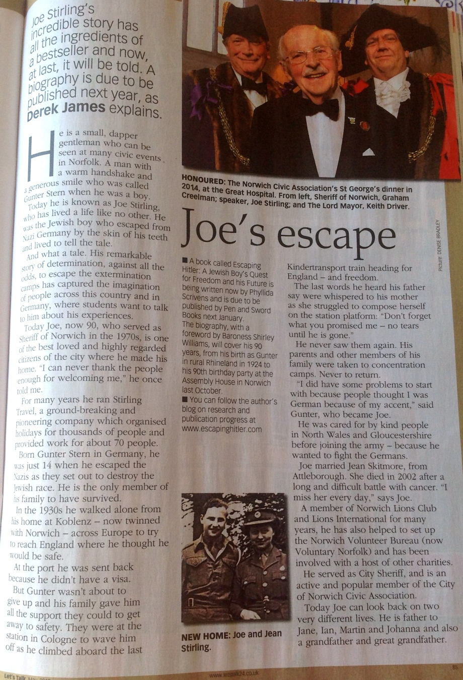 Article on Joe Stirling in Let's Talk Magazine