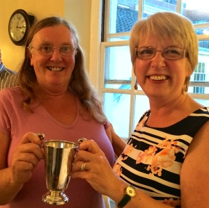 Phyllida Scrivens (right) and Maureen Nesbit are joint winners of the Overall Cup for Competition entries 2015