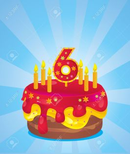 12741598-colorful-iced-birthday-cake-with-candles-Stock-Vector